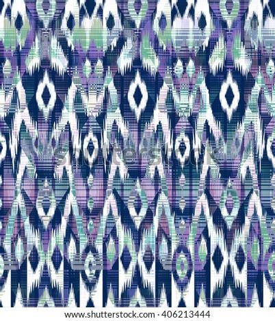 artistic ikat print ~ seamless backround - stock photo