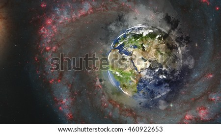 Artistic Planet Earth Artwork - Middle Eastern Globe (Reference Elements of this image furnished by NASA)