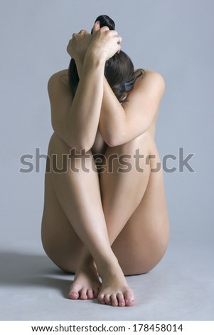 Artistic shot a beautiful naked woman  - stock photo