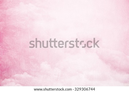artistic soft cloud and sky on pastel gradient color with grunge  texture         - stock photo