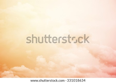 artistic soft cloud and sky with pastel gradient color         - stock photo