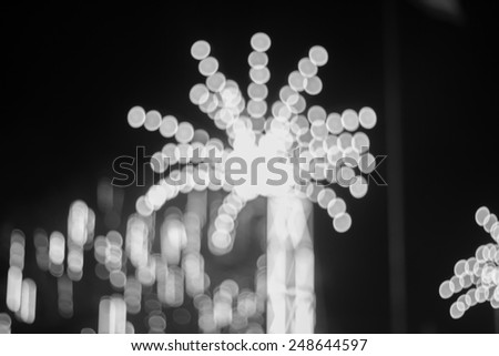 Artistic style - black and white bokehs of lights in the background with blurring lights for your design