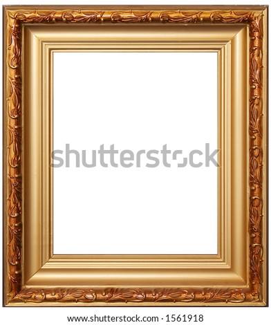 Artistic wood frame - stock photo