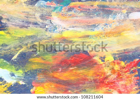 Artists oil paints multicolored closeup abstract - stock photo