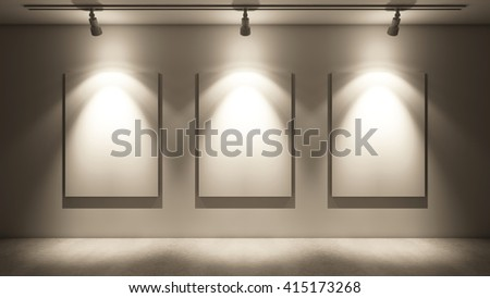 Arts and Gallery mock up background - 3d render