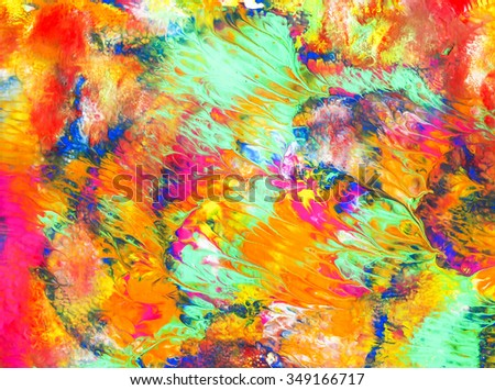 arts painting colorful water acrylic wave effect background texture abstract on paper