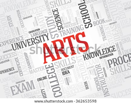 ARTS word cloud concept - stock photo