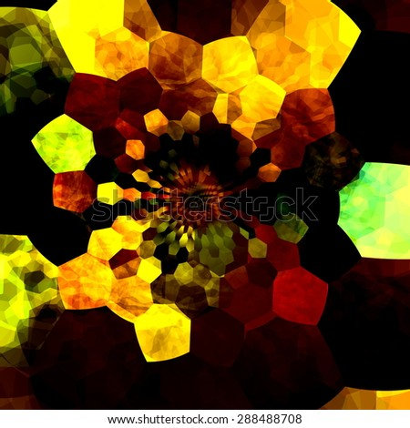Artsy background design illustration. Art composition of colors and shapes with many different sizes. Creative abstract wallpaper for computer screen. Image for use in media. Digital elements. - stock photo