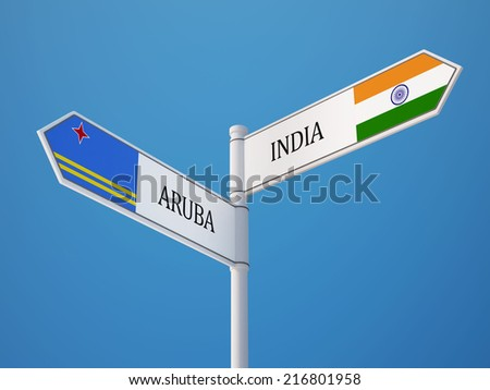 Aruba India High Resolution Sign Flags Concept