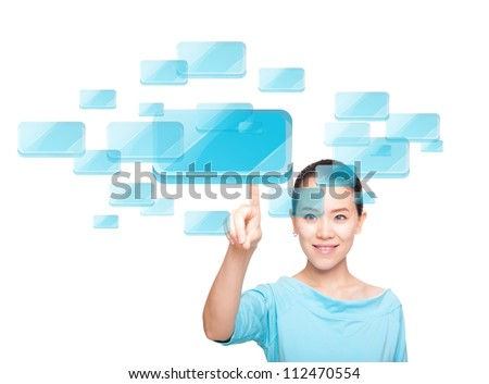 As the symbol of the female characters are virtual - stock photo