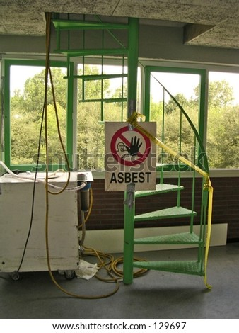 asbestos danger - stock photo