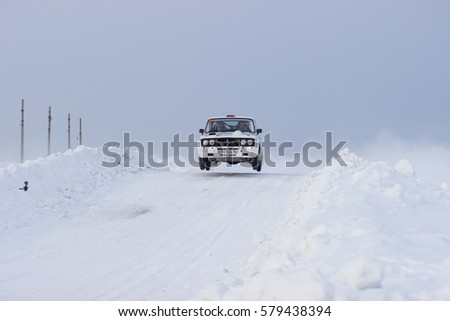 Asbestos, Russia February 5, 2017   4 Round Of The Russian Rally Cup 2017