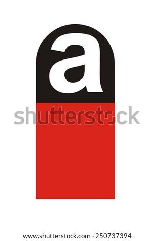 asbestos symbol - stock photo