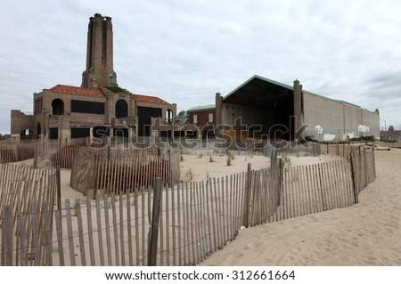 Asbury Park Casino. - stock photo