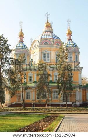 Ascension Zenkov Orthodox Cathedral in Almaty Kazakhstan - stock photo