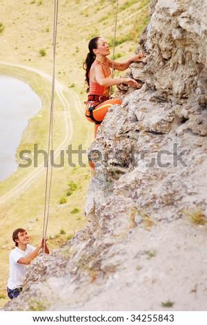 ascent - stock photo