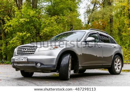 ASHA, RUSSIA   SEPTEMBER 22, 2016: Motor Car Infiniti FX35 In The City