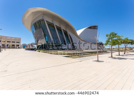ASHDOD, ISRAEL-JUNE 12, 2016: Center for the Performing Arts of Ashdod