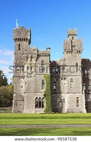 Ashford castle in Ireland. - stock photo