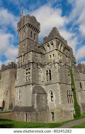 Ashford castle , Ireland - stock photo