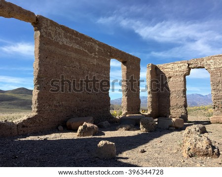 Ashford Mill Historic Site, Death Valley National Park - stock photo