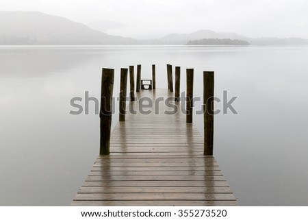 Ashiness Jetty on Derwentwater in the UK Lake District