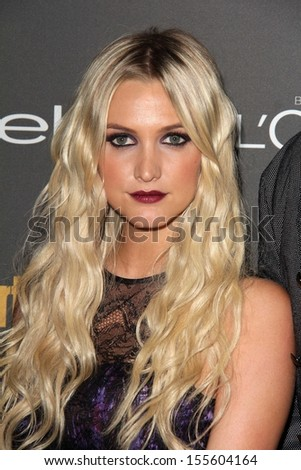 Ashlee Simpson at the 2013 Entertainment Weekly Pre-Emmy Party, Fig& Olive, Los Angeles, CA 09-20-13 - stock photo