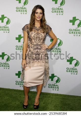 Ashley Greene at the Global Green USA's 12th Annual Pre-Oscar Party held at the Avalon in Los Angeles on Wednesday February 18, 2015.  - stock photo