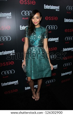 Ashley Madekwe at the Entertainment Weekly Pre-SAG Party, Chateau Marmont, West Hollywood, CA 01-26-13 - stock photo