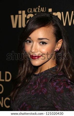 Ashley Madekwe at the Hollywood Foreign Press Association And InStyle Miss Golden Globe 2013 Party, Cecconi's, Los Angeles, CA 11-29-12 - stock photo