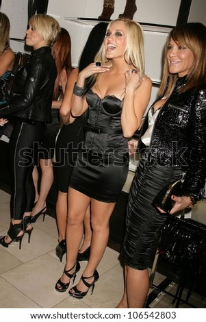 Ashley Roberts and Robin Antin   at the Launch of the Pusscat Dolls Lingerie '...Shhh'. Bebe, Beverly Hills, CA. 12-03-08