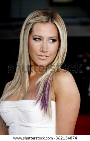 """Ashley Tisdale at the Los Angeles premiere of """"Step Up Revolution"""" held at the Grauman's Chinese Theatre in Los Angeles, California, United States on July 17, 2012. - stock photo"""