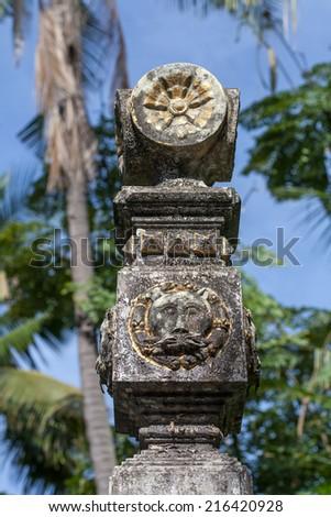 Ashoka  column - stock photo