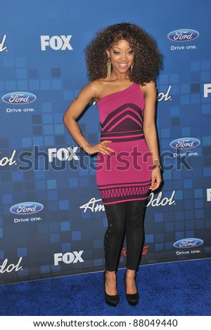 Ashthon Jones at the American Idol Finalists Party at The Grove Los Angeles. March 3, 2011  Los Angeles, CA Picture: Paul Smith / Featureflash