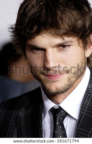 Ashton Kutcher at WHAT HAPPENS IN VEGAS Premiere, Mann's Village Theatre in Westwood, Los Angeles, CA, May 01, 2008 - stock photo