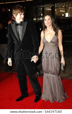 Ashton Kutcher, Demi Moore at AFI FEST 2006 Black Tie Opening Night Gala and US Premiere of BOBBY, Grauman's Chinese Theater, Los Angeles, November 01, 2006 - stock photo