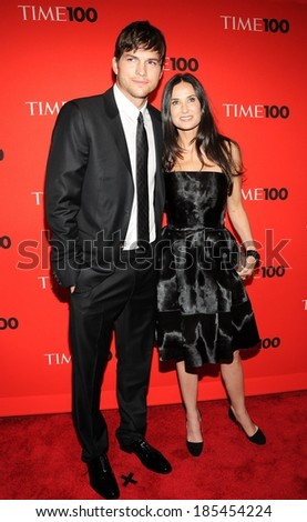Ashton Kutcher, Demi Moore at TIME 100 Most Influential People in the World Annual Gala, Time Warner Center, New York, NY May 4, 2010 - stock photo