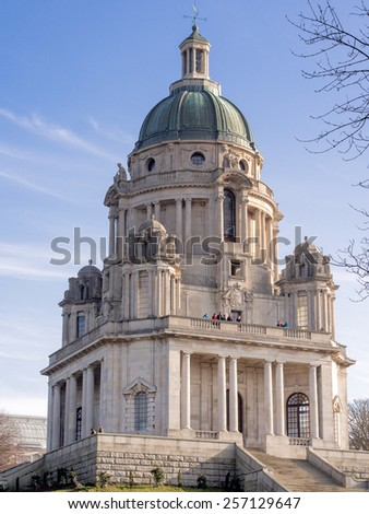 Ashton memorial at Williamson Park, Lancaster, Lancashire, UK