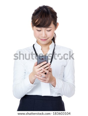 Asia businesswoman using mobile