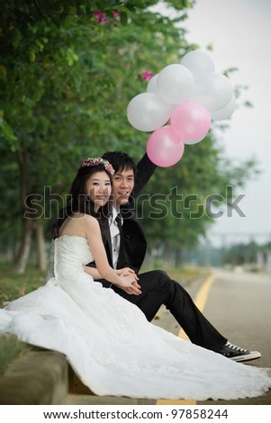 asia couple bride and groom