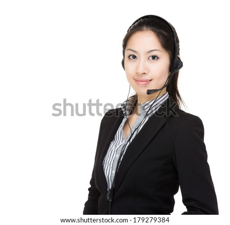 Asia customer service - stock photo