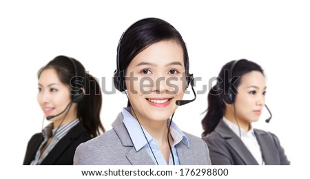 Asia customer service team - stock photo