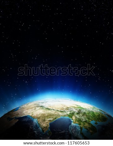 Asia. Elements of this image furnished by NASA