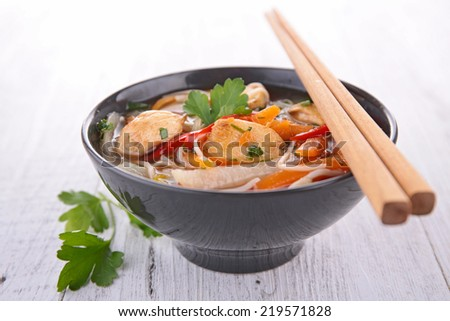 asia food, noodles soup