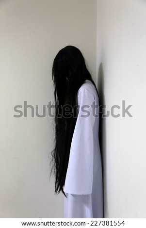 Asia ghost girl in the room - stock photo