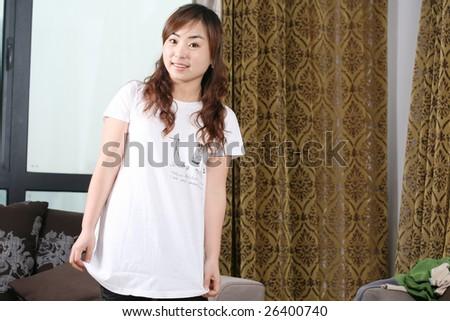 asia girl - stock photo