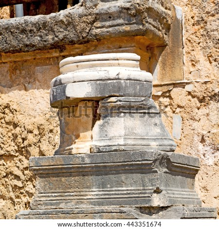 asia  greece and  roman    temple   in  athens the    old column  stone  construction