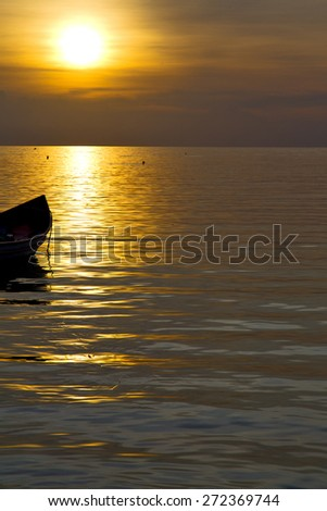 asia in the  kho phangan bay isle sunset sun   thailand  and south china sea