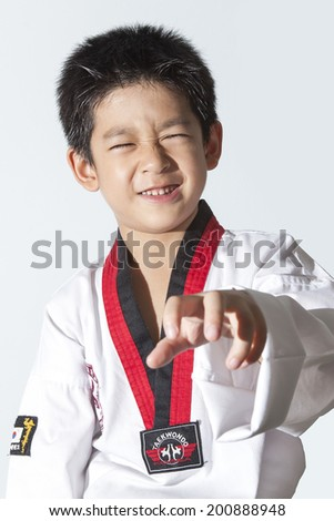 asia karate boy - stock photo