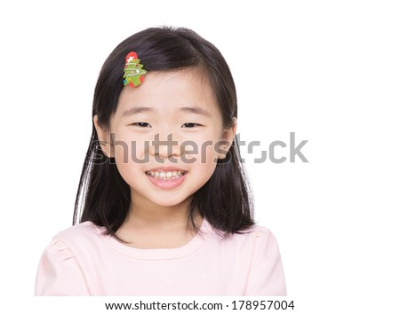 Asia little girl - stock photo